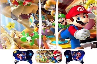 Super Mario Xbox 360 Skins Incluye 2 Pad Pegatinas Para Mayores Blanco...