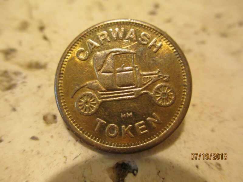 Vintage CAR WASH TOKEN - Vintage Carwash coin