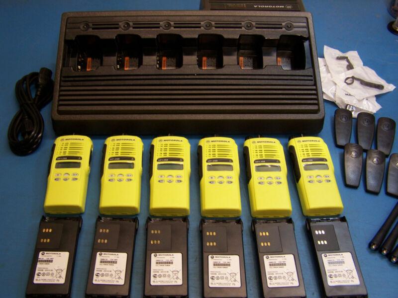 6 Motorola Ht1250 Vhf 136-174mhz 128 Channel Mint