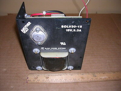 Elpac Power Systems Solv30-15 Power Supply 15vdc 3.3 Amps