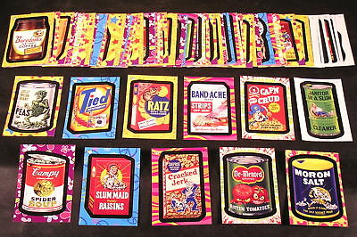 2008 Wacky Packages Flashback Series 1 FB1 COMPLETE BASE SET of 72 stickers nm+