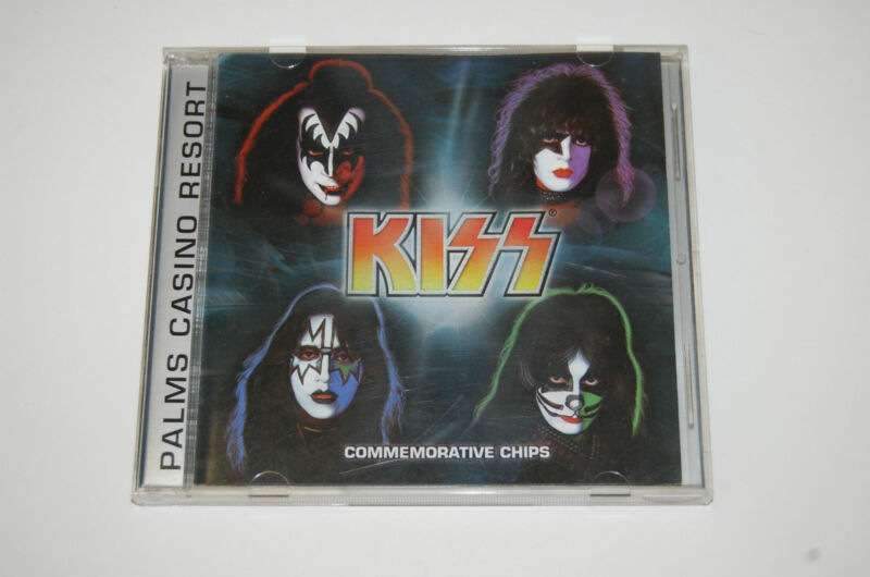 Rare Kiss Concert Palms Casino Chips in Display