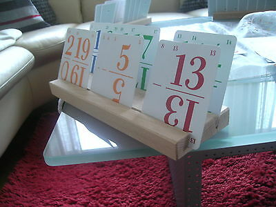 Kartenspiel Holz Kartenhalter 29cm, alle Karten im Überblick, Mitbring-Geschenk