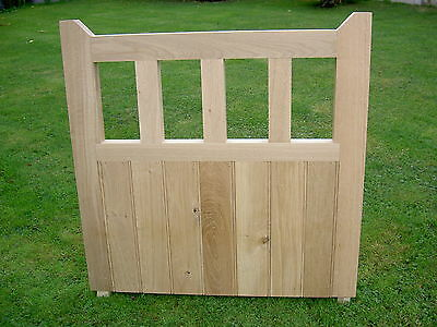 Solid Oak Garden Gate 975mm X 975mm Handcrafted Solid European Oak Gate Hardwood