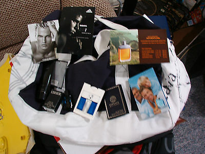 Davidoff Cool Water duffel bag with free samples and a tube of lotion