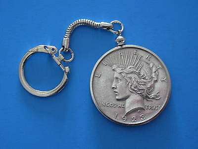 1921 Morgan and 1923 Peace Dollar - Two Sided Novelty Showpiece key ring