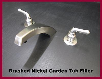- Mobile Home Parts Garden Tub Filler faucet Hi Arc Spout Brushed Nickel Finish
