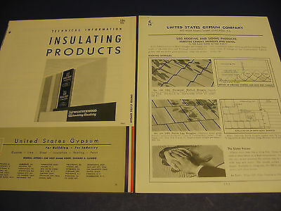 United States Gypsum Asbestos Siding Samson Plaster Board Co  Usg 2 Lot