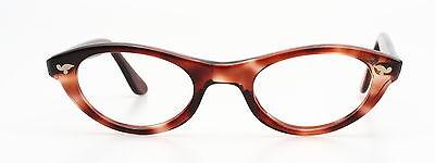 Schöne 1950er Vintage Cateye Brille, Mod. NANETTE von SELECTA in havanna 44-22mm