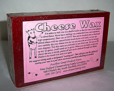 Make Cheese at Home w/ RED CHEESE WAX One Pound Of Food Grade Wax For Aging NEW!
