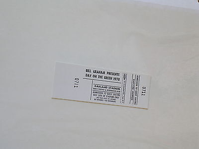 Rare Bill Graham DAY ON THE GREEN Oakland CONCERT TICKET 1978 Grey