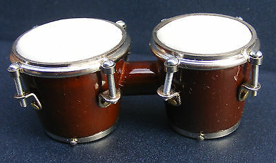 1:12 Scale Bongo Drums Dolls House Miniature Musical Instrument Accessory 565