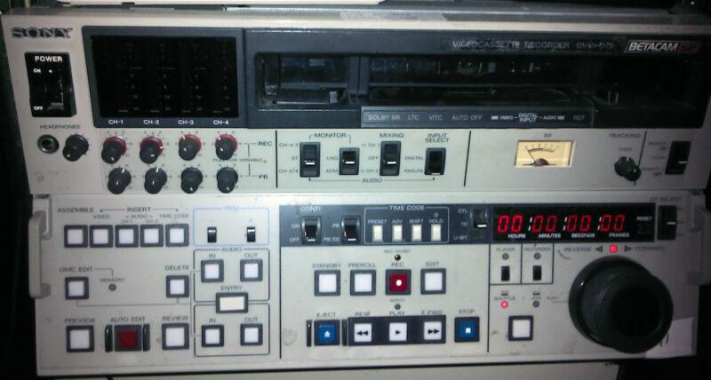 CinePost Betacam SP tape capture to hard drive