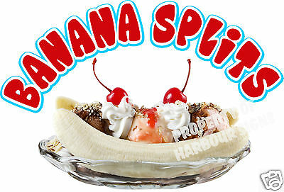 Banana Splits Decal 8 Ice Cream Soft Serve Cart Stand Concession Food Truck