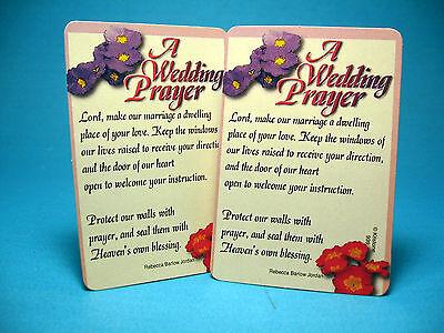 A Wedding Prayer - 2 Verse Cards - SKU# 939 (A Wedding Prayer)