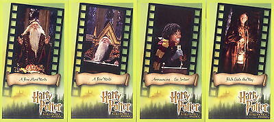 HARRY POTTER AND THE SORCERER'S STONE MOVIE WIDEVISION 2001 BASE CARD SET OF 80