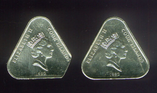 COOK TRIANGULAR CLIP ERROR on $2 UNCIRCULATED of 1992 COIN CATALOG KM # 38 UNC