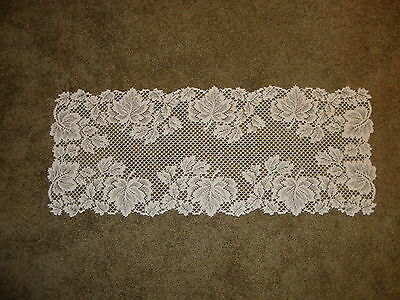 Ivory Table Runner (Lace Table Runner Ivory Leaf design 36 x14)