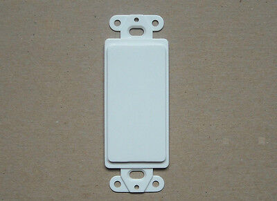 BLANK DECORA FILLER INSERT PLASTIC WALL COVER PLATE WHITE - Decora Wall Plate Blank