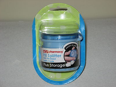 New Cvs Pharmacy Pill Splitter With Recessed Safety Blade   Storage Container