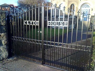 WROUGHT IRON GATES MANUFACTURED BY CRAFTSMEN IN UK
