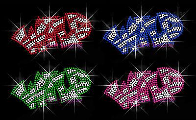 Wild Zebra (WILD Zebra letters - Pick Ur Color Rhinestone Iron on Transfer Hot Fix Bling)