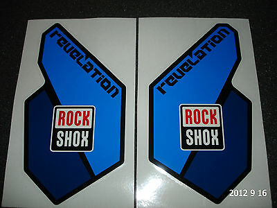 AUTHENTIC ROCKSHOX REVELATION BLUE FORK STICKERS #4 DECAL / ROCK SHOX AUFKLEBER