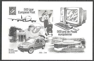 BELGIE 2001 500 jaar Europese post