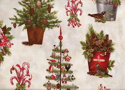 Ivory Holly - HOLLY JOLLY CHRISTMAS-AMK-11253-15-IVORY-NEW- Kaufman