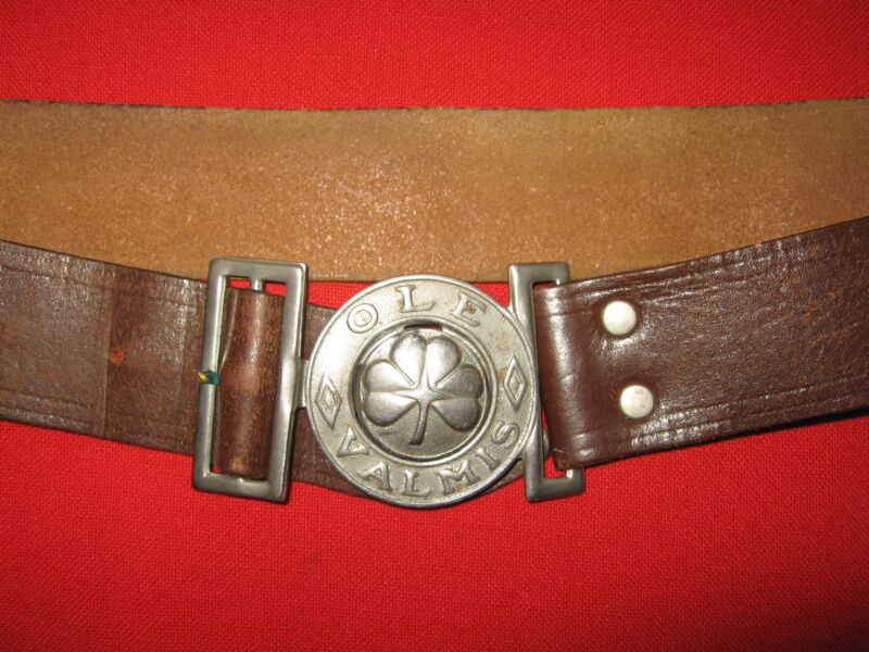 Scouts of Finland Original Leather Belt with Buckle