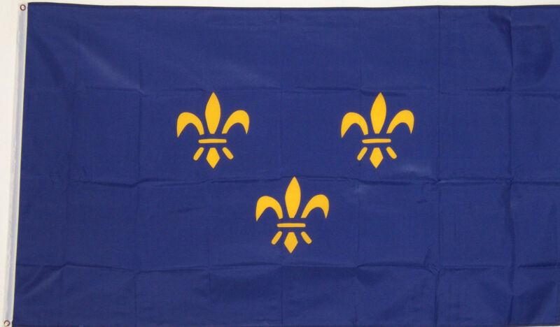 FRANCE 3x5 ft BLUE FRENCH FLUER DE LIS w/3 FLAG better quality usa seller
