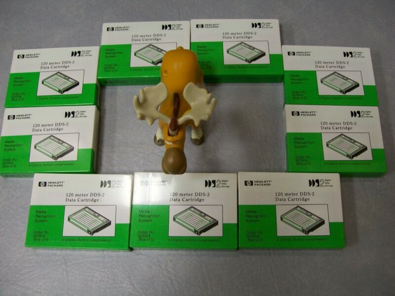 Hewlett Packard DDS Data Cartridge 120 Meter Lot of 9