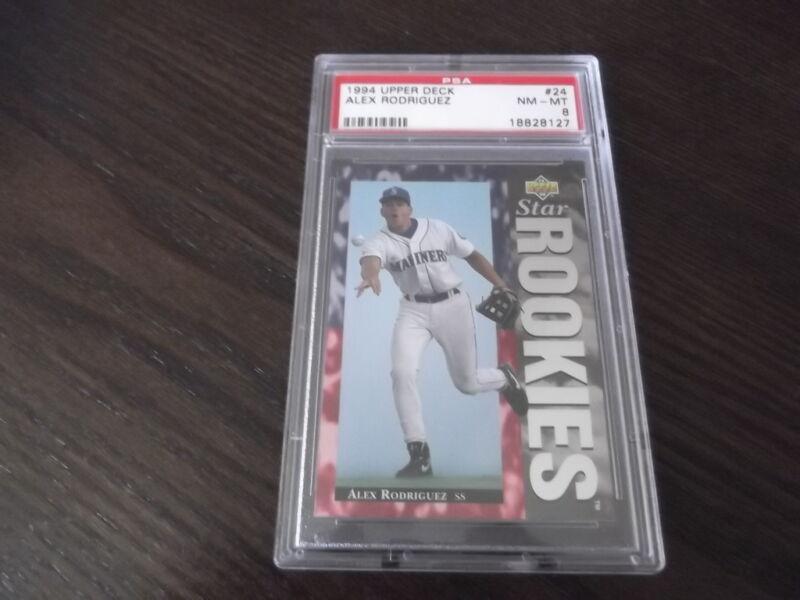1994 Upper Deck Alex Rodriguez #24  Baseball Card PSA NM-MT 8 Star Rookies