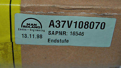 Electrical Board For A Man Roland 900 700 Or 300 Part A37v108070 Sealed New