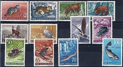 """1954 Trieste """"B"""" Animali   nuovo MNH**"""