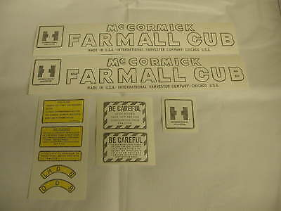 Ihc Mc Cormick Farmall Cub Tractor Decal Set Vinyl Cut - New Free Shipping