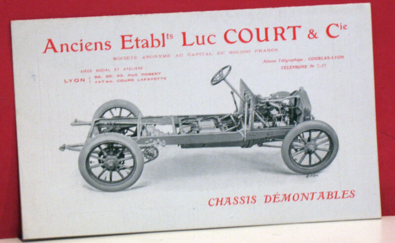 """Luc Court Automobiles """"Chassis Demontables"""" Brochure-Circa Early 1900s-France"""