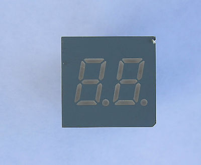 LED Segment Display 2 digit, 7 segment, .30 inch, green, common cathode, 5 pcs