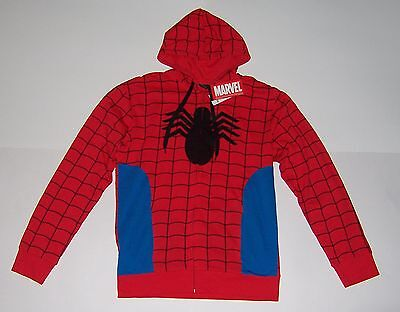 MARVEL SPIDER-MAN COSTUME HOODIE JACKET MEN'S SIZE X LARGE NWT! GREAT PRICE!