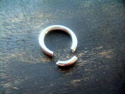 1/2 8g Captive Bead Rings (Steel Segment Captive Bead Ring 8g 1/2