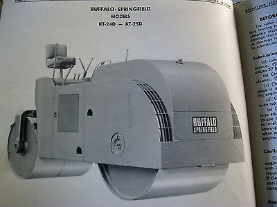 Buffalo-springfield Kt-24d Kt-25d Asphalt Road Roller Service Parts Manual