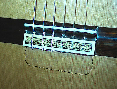 Classical Guitar Soundboard Protector- Rosette Tie-Guard > No String Dings Tie Classical Guitar Strings