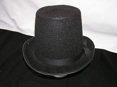 New Tall Black Felt Top Hat Slash Costume Halloween Costume Hat