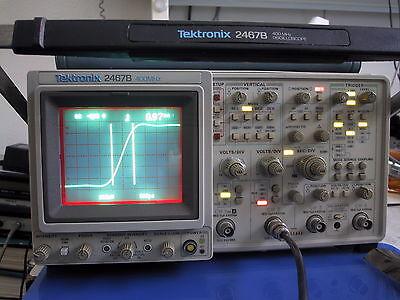 Calibrated Tektronix 2467b 400mhz Briteye Oscilloscope Extras Low Hours Avail