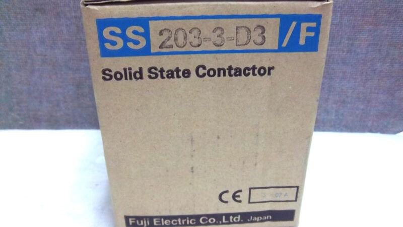 FUJI ELECTRIC SOLID STATE CONTACTOR SS203-3-D3/F NEW SS2033D3F