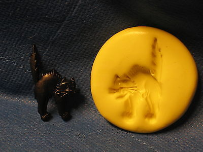 Halloween Black Cat Silicone Push Mold #226 For Craft Clay Candy Chocolate   - Halloween Black Cat Craft