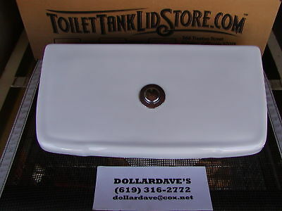 Mansfield MPP Toilet Tank Lid with button for Flushmate tanks Smooth bottom 1A