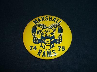 Vintage Marshall Rams, 74-75, Pin/Button