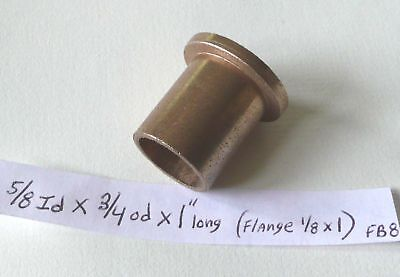 Oilite Flange Bushing Bronze 58 Id X 34 Od X1 Brass Bearing Shim Spacer Bush 8
