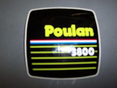 POULAN CHAINSAW 3800 DECAL STICKER --------------- BOX354 Chainsaw Decal Sticker
